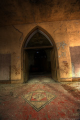 The quest for the grail is not archeology, it's a race against evil (Dave-a-roni (Dark Spot Photography)) Tags: abandoned church nikon decay gothic ruin wideangle hdr abandonedchurch photomatix d7100 nikond7100