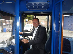 "Stephen Mosley MP visits Chester Stagecoach depot during Catch A Bus Week • <a style=""font-size:0.8em;"" href=""http://www.flickr.com/photos/51035458@N07/14089396765/"" target=""_blank"">View on Flickr</a>"