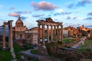 Rome - The Roman Forum, Sunset
