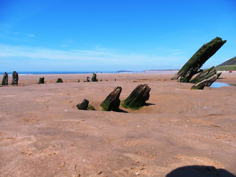 The wreck of the Helvetia at Rhossili 17th May 2014 (17)