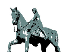 Lady Godiva Statue (msscoventry) Tags: monochrome lady gimp coventry godiva ladygodiva mathmap