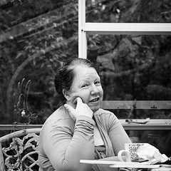 Jocelyn (chrism229) Tags: portrait people blackandwhite film monochrome analog mediumformat trix iso hasselblad 500c diafine analogue 800 sonnar 848 150mm imacon