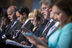 Delegates at the Closed Ministerial Session
