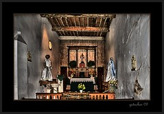 Chapel at Mission San Juan (the Gallopping Geezer '5.0' million + views....) Tags: old west building abandoned church sanantonio canon religious worship texas decay room religion chapel structure historic sanjuan faded worn western mission preserved alter 2009 wildwest decayed geezer corel oldwest