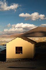 (xs.photo) Tags: travel house mountain color southamerica nature yellow clouds barn landscape golden outdoor shed adventure hour oker