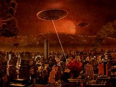 Fotomontaje random (Bastian Klak) Tags: city attack ufo ovni