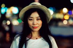 Gloria (Jon Siegel) Tags: portrait woman girl beautiful smile smiling night evening nikon singapore f14 14 85mm orchard lovely nikkor d700 nikkor85mmf14afd