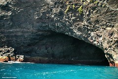 Sea Cave in Cliffs From Old Gulch to North Head - Lord Howe Island Circumnavigation (Black Diamond Images) Tags: mountains island boat paradise australia cliffs nsw cave boattrip circumnavigation lordhoweisland seacave worldheritagearea thelastparadise circleislandboattour