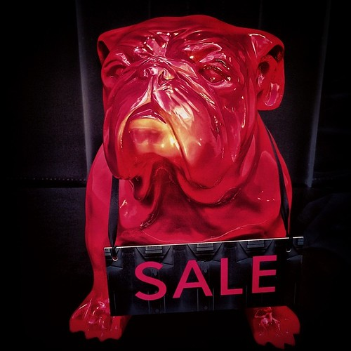 Good Puppy Doggy. #puppy #dog #sf #sanfrancisco #unionsquare #red #sale #igers #instacool #instagood #iphoneonly #color