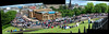 The Gumball 3000 rally at the Mound (beqi) Tags: panorama edinburgh mound photoshoppery 2014 gumballrally