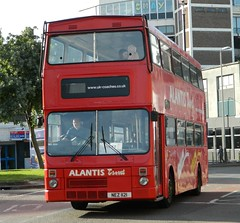 Atlantis Travel MCW Metrobus - NEZ 1121 (J.J.Pay 8581) Tags: red bus leicester midlands mcw nez1121