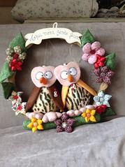 Guirlanda (Pina & Ju) Tags: handmade flor artesanato owl fuxico coruja patchwork