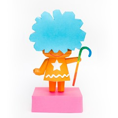 วิธีทำโมเดลกระดาษคุกกี้รัน คุกกี้รสเมฆ (Cookie Run Cloud Cookie  Papercraft Model) 009