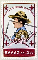 old stamp Hellas Greece (boy scout, Pfadfinder; Chief Scout Crown Prince Konstantin) postage 2.50d poste timbres Grce bolli selos Grcia sellos Grecia francobolli postage Greece Briefmarken Griechenland      burargjald Gri