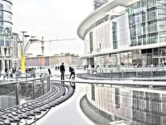 Piazza Gae Aulenti, Milano (Tu prova ad avere un mondo nel cuore...) Tags: life reflection water agua eau wasser views reflejo acqua element  riflesso waterscapes yansma reflexo    clat