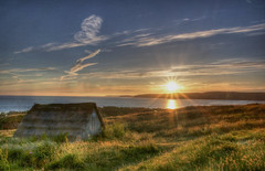 lavabread hut (brianmiller006) Tags: sunset beach wales canon coast pembrokeshire hdr