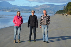 Anaïs, Tish et Ross - promenade le long de Rabbit Island