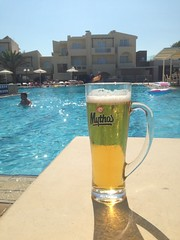 Mythos beer at Crete, Greece!