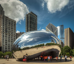 Bean (David Morton) Tags: sculpture chicago illinois bean panasonic millenniumpark cloudgate hdr 3xp photomatix tz60