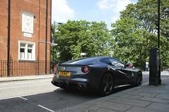 Those Lines. (Alex   Supercars) Tags: park street summer london cars alex st grey super ferrari cricket rims supercars f12 2014 sloane berlinetta cri3ket