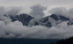 Twin Peaks (chantsign) Tags: blue mist mountains alaska clouds innerpassage