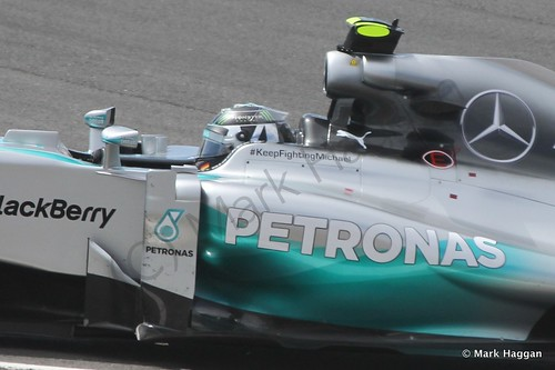 Nico Rosberg during The 2014 British Grand Prix