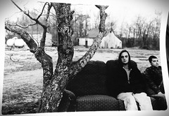 CP (alannahnicole) Tags: old trees light sky blackandwhite man film nature mystery clouds barn contrast photography friendship country couch 35mmfilm pentaxk1000 haunting narrative enlargement dreamscape filmphotography blackandwhitefilm ilovefilm 35mmlens photopaper analoguephotography