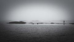 31/52 Minimalism (ponzoñosa) Tags: sea blancoynegro fog mar bn fisher niebla ría 52weeks