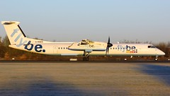 G-KKEV (AnDyMHoLdEn) Tags: flybe dash8 bombardier egcc airport manchester manchesterairport 05r