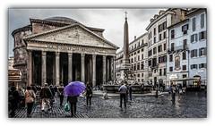 Pluie sur le Panthéon (jldum) Tags: pluie rain architecture roma rome hdr monument ville town