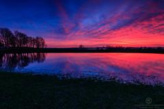 The evening sky explodes (Thomas Jahnke) Tags: brandenburg uckersee unteruckersee prenzlau uckermark seascape landscape deutscgland canon clouds sunset lake tree