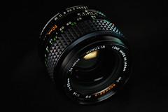 MC Rokkor-X PG 50mm f/1.4 (westonde) Tags: vintagelenses vintagelens legacyglass lightpainting black industrialdesign lenses rokkor minolta