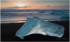 Sunrise (TheAstroRV) Tags: iceland ice iceberg basalt sand stunning landscape sea waves clouds blue sky diamond beach