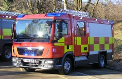5350 - Rosenbauer CL Demonstrator - YN16 DJK - 148 (Call the Cops 999) Tags: uk gb united kingdom 999 112 emergency service services vehicle vehicles rosenbauer meltham yorkshire factory encore day wednesday 25 january 2017 frs fire and rescue engine appliance truck man cl compact line demonstrator yn16 djk