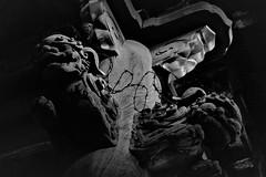 ✪雨模様の紀三井寺② -和歌山県和歌山市- (m-miki) Tags: nikon d610 japan 和歌山 寺院 寺社 紀三井寺 本堂 彫刻 獅子 文化財 白黒 temple bw
