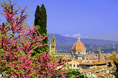 Buongiorno Firenze! :) (LaDani74) Tags: villabardini firenze toscana tuscany florence nature landscape cityscape spring bloom santamariadelfiore duomo architecture old canoneos760d sigma1750