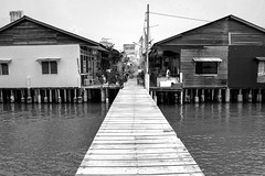 Chew jetty (jambros76) Tags: asian photograph photo picture pics travel traveller byn blancoynegro bnw blackandwhite backpackers canon400d canonistas canon georgetown penang malaysia chewjetty