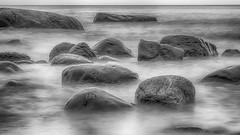 Ghost rocks - Geisterfelsen (ralfkai41) Tags: brandung nature felsen surf outdoor wellen langzeitbelichtung rocks longtimeexposure ostsee schwarzweis blackwhite monochrom bw sw waves water sea meer balticsea natur