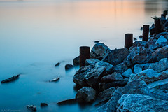 Eventide (Anthony P26) Tags: category erdek places seascape sunset travel turkey longexposure water sea bay marmarasea waterblur goldenhour evening rock rocks metal rusting rust coast coastal seashore canon canon1585mm canon70d outdoor