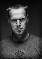 Devil Inside (Martin Werge Nissen) Tags: 57 600exrt analogefexpro2 photoshopcc silverefexpro2 aspect bw blackandwhite flash monochrome octagon one portrait reflector self two