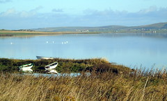 Harray loch (stuartcroy) Tags: orkney island harray harrayloch beautiful blue bay boat reflection scotland sea scenery sky sony still