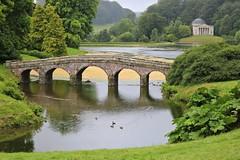 Stourhead, The Turf Bridge & the Pantheon (adamsgc1) Tags: stourhead turfbridge bridge pantheon lake water stourton wiltshire arches ducks birds green