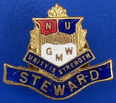 (NUGMW) National Union of General and Municipal Workers - Steward's badge (1930's - 1950's) (RETRO STU) Tags: nationalunionofgeneralandmunicipalworkers nugmw generalmunicipalworkersunion gmwu generalmunicipalboilermakers gmb nationalunionofgasworkersgenerallabourers tradeunions tradeunionbadges enamelbadge jrgauntltdoflondon