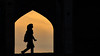 People of Iran # 6: Young woman, walking the bridge at sunset (ruben garrido lopez) Tags: iran persia khajubridge woman joven silueta silhouettes sunset sundown atardecer puestadesol nikond5100 isfahan esfahan