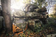 Brothers (Michal Seidl) Tags: abandoned car graveyard cemetery old iron volkswagen beatle verlassene auto friedhof opuštěné vrakoviště hřbitov automobil vrak hdr urbex lost decay austria