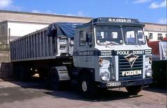 Foden S80/3, WKO 938S (ergomammoth) Tags: lorry lorries truck trucks foden fodens80 fodens83 artic articulated fodensltdsandbach gardner8lxbdiesel gardner240 tippingtrailer whgeerltd haulagecontractor parkstone poole dorset roadhaulage sharpjonesco transportcontractor