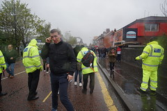 after security controls (Daripo) Tags: football game security controls rain manchester united chelsea