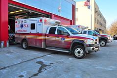 FDNY EMS Ambulance 022 (Triborough) Tags: ny nyc newyork newyorkcity queenscounty queens jamaica fdny newyorkcityfiredepartment firetruck fireengine fdnyems ems ambulance dodge b4500 wheeledcoach