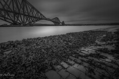 Slippery Bridge (Paul S Ewing) Tags: forthrailbridge firth forth scotland uk landscape blackandwhite bw mono bridge longexposure