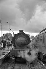 DSC_3564ps (Thomas Cogley) Tags: spa valley railway tunbridge wells kent heritage history preserved preservation vulcan austerity national coal board ncb 060 steam loco locomotive train 72 68072 hunslet 5309 black white mono bw